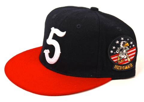 No. 5 Ebbet Strapback Undefeated Navy/Red