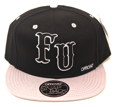 FU Nation Snapback Official Black/Silver