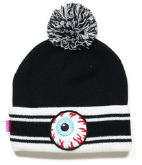 Keep Watch Striped Pom Beanie Mishka Black