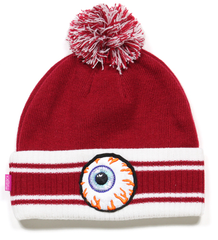 Keep Watch Striped Pom Beanie Mishka Red