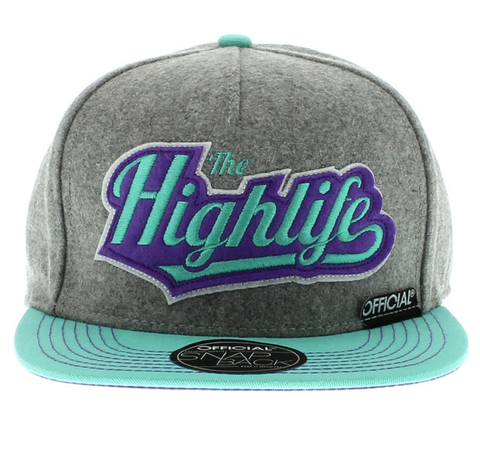 Highlife Tiffany Snapback Official Gray/Teal/Purple