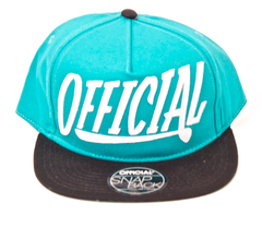 Applique Snapback Official Teal/Black