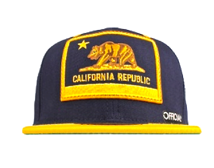 Cali Cal Snapback Official Navy/Yellow