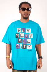 All City T-Shirt Fly Society Aqua