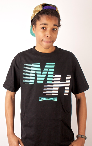 MH T-Shirt Mighty Healthy Black
