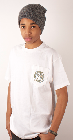 Bones Pocket T-Shirt In4mation White/Camo