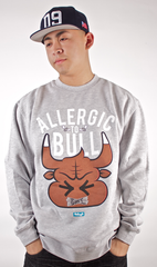 Allergic To Bull Crewneck Entree Gray
