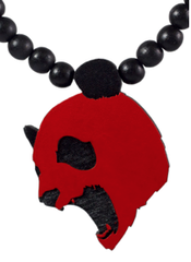 Screaming Panda Pendant Good Wood Black/Red