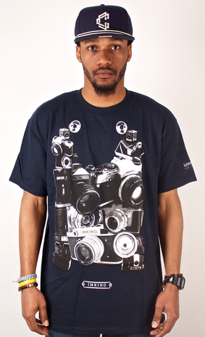 Cameras T-Shirt IMKING Navy