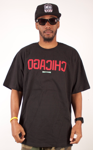 Chicago T-Shirt Mighty Healthy Black