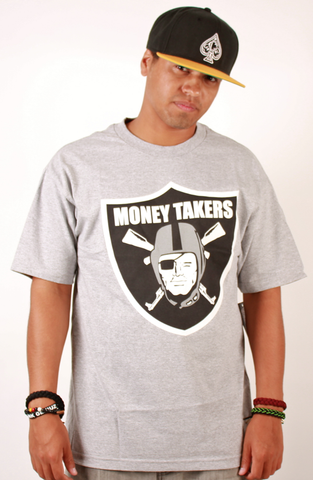 Money Takers T-Shirt People's Champ Gray