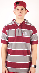 Bar Exam Polo Hoodie Play Cloths Maroon/Gray