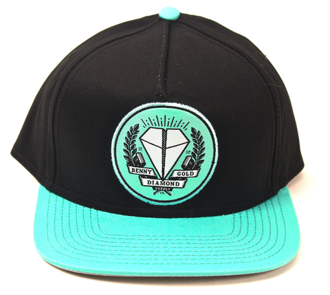 Benny Gold X Diamond Supply Co. Collab Snapback Black/Teal