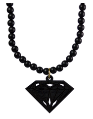 Diamond Pendant Good Wood Black