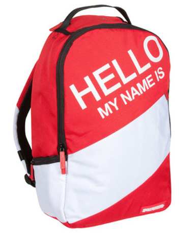 Hello My Name Is... Bag Sprayground Red