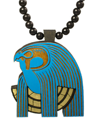 Horus Pendant Good Wood Blue/Gold/Black