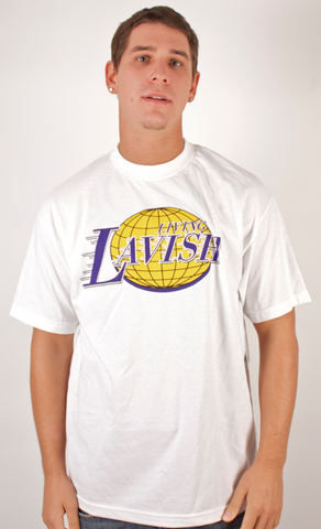 Living Lavish T-Shirt People's Champ White