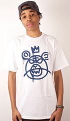 Bear Mop T-Shirt Mishka White
