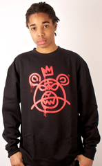 Bear Mop Crewneck Mishka Black