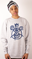 Bear Mop Crewneck Mishka Heather Gray