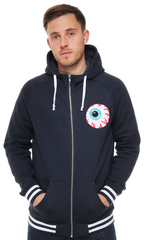 Eyeball Varsity Zip Up Hoodie Mishka Navy