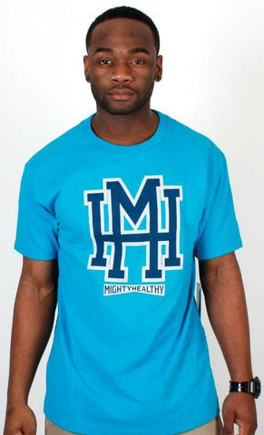 MH T-Shirt Mighty Healthy Blue