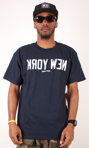 New York T-Shirt Mighty Healthy Navy Blue