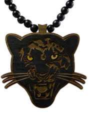 Black Panther Pendant Good Wood Black