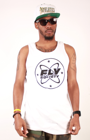 Cosmo Tank Fly Society White/Black