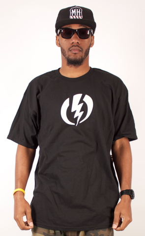 Bolt T-Shirt Electric Visual Black