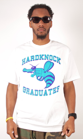Hardknock Graduates T-Shirt People's Champ White