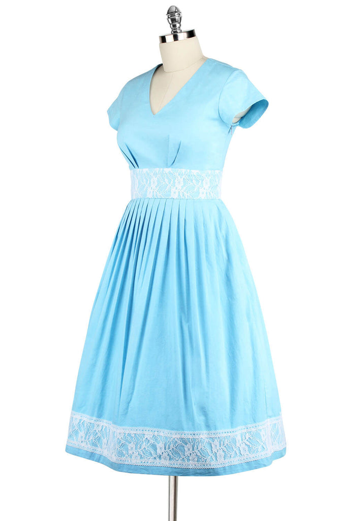 Elyzza London 1950s Cotton Fit & Flare Dress