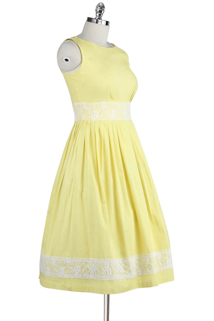 Cotton 1950s Style Fit & Flare Sleeveless Dress
