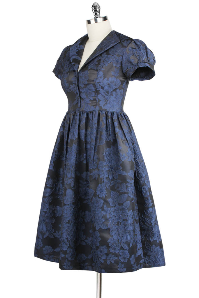 Elyzza London 1950s Jacquard Flare Dress