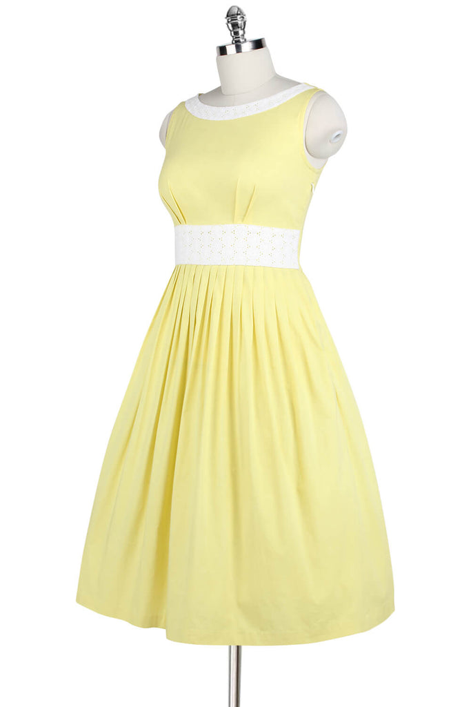Elyzza London 1950s Cotton Flare Sleeveless Dress