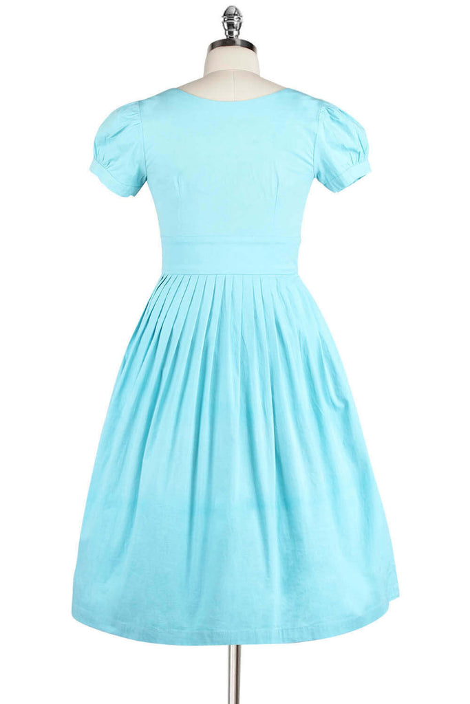 Elyzza London Plus Size 1950s Embroidered Round Neck Flare Dress