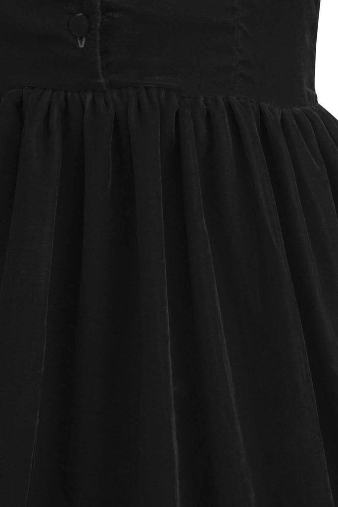 Elyzza London Plus Size 1950s Black Velvet Flare Dress