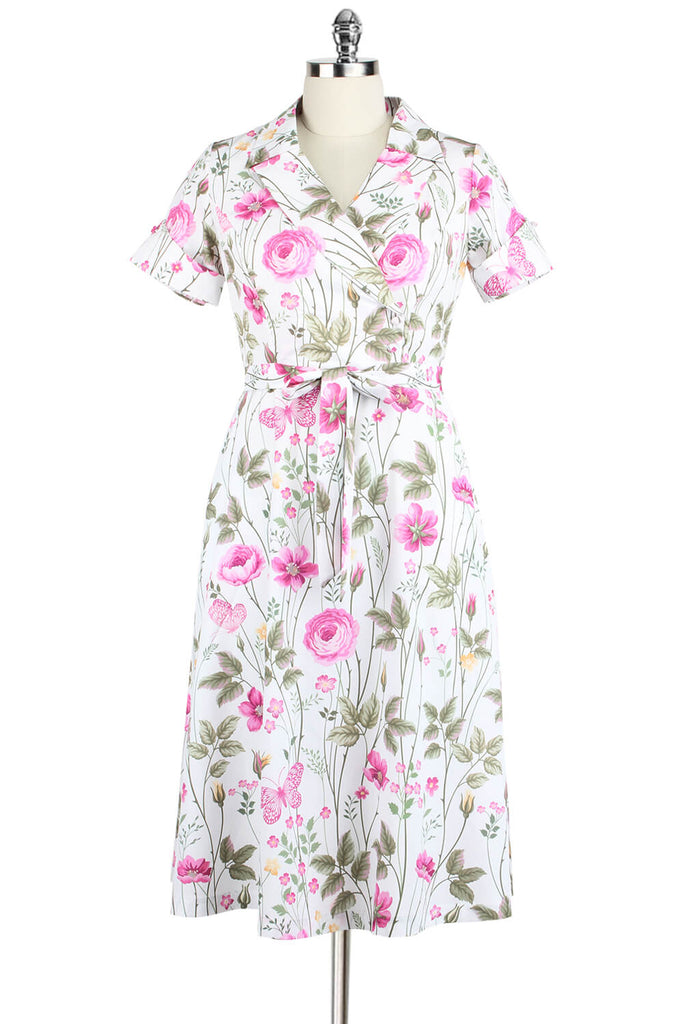 Elyzza London Plus Size Floral Butterfly Print Flare Dress