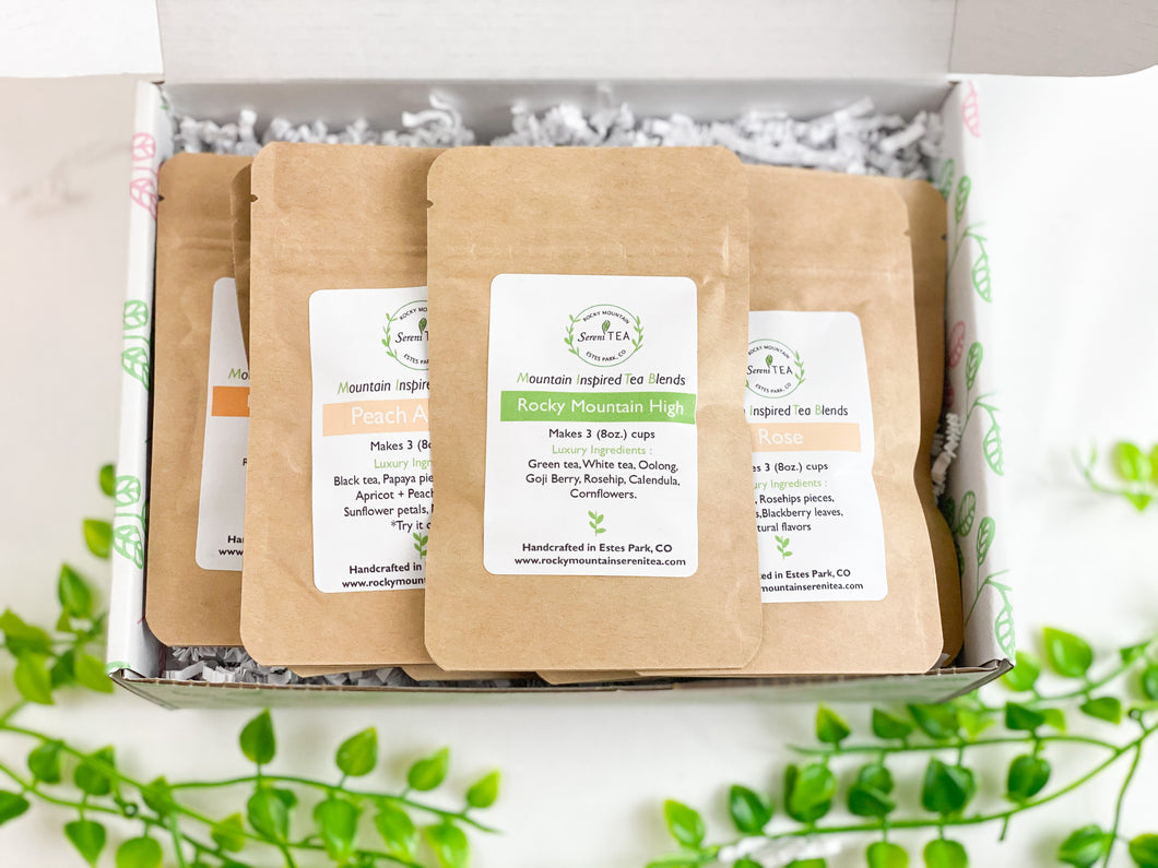 Flavored black tea and Chai tea sampler box