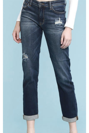 Judy Blue Curvy Tapered Slim Fit Distressed Jean