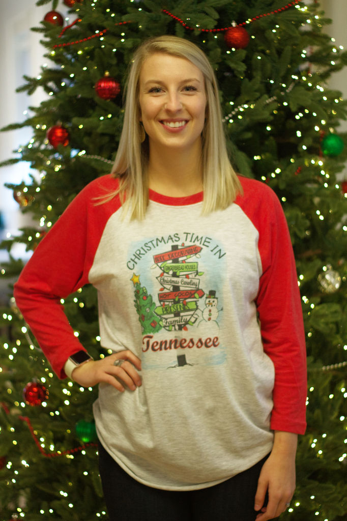 Christmas in Tennessee Raglan