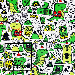 Felix Christmas Woven Digital Print Fabric