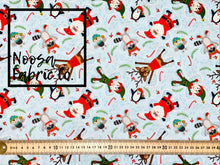 Blitzen Christmas Woven Digital Print Fabric