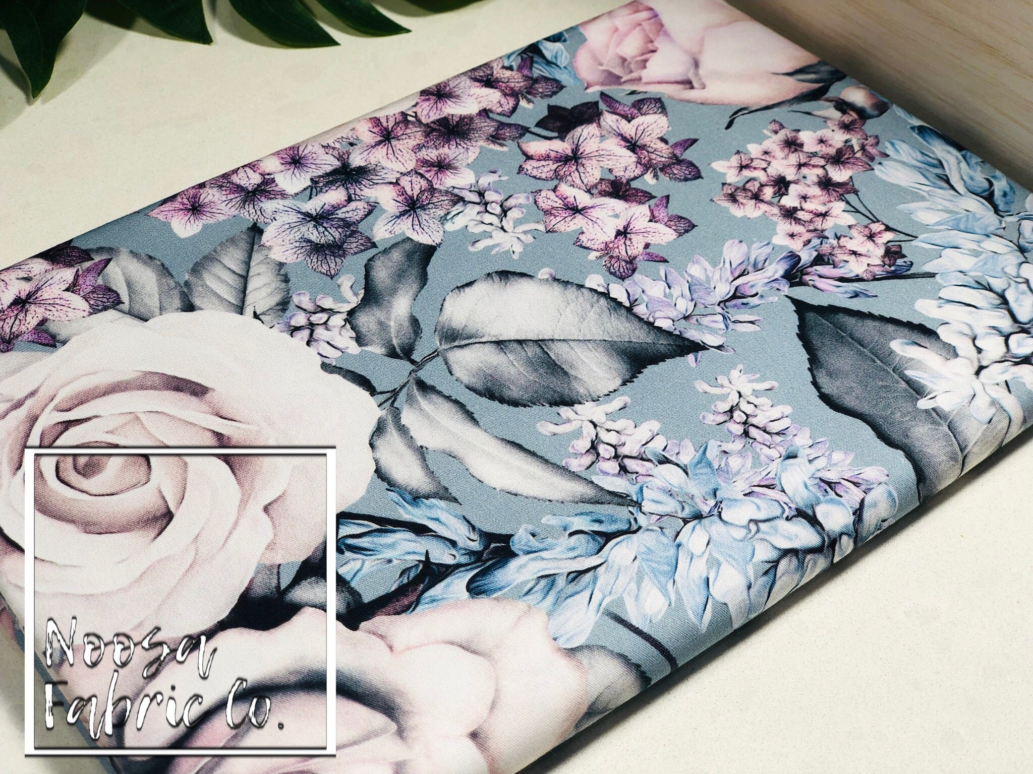 Lauriane 'Blue' Woven Digital Print Fabric