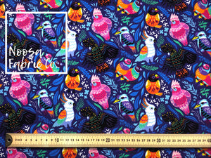 Henrietta 'Purple' Cotton Lycra Digital Print Fabric