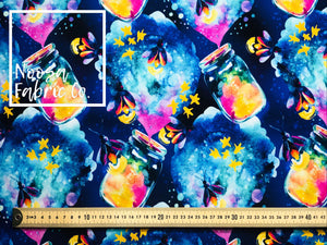 Lucy Cotton Lycra Digital Print Fabric