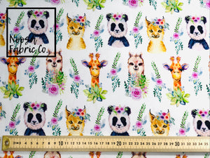 Heather Cotton Lycra Digital Print Fabric