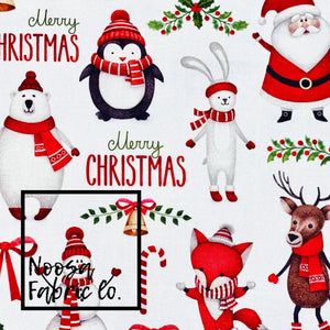 Claus Christmas Woven Digital Print Fabric