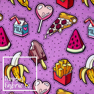 Fifi 'Purple' Woven Digital Print Fabric
