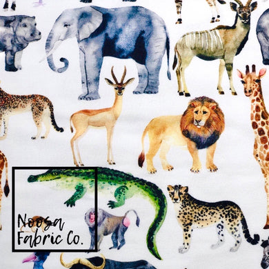 Serengeti Cotton Lycra Digital Print Fabric